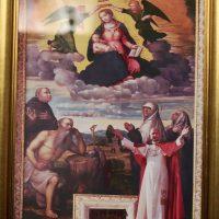 Il quadro donato a Mons. Mario