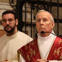Presiede l'Eucaristia S. E. Mons. Ignazio Sanna, Arcivescovo di Oristano