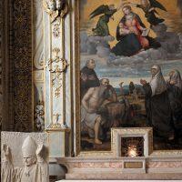 L'altare di S. Girolamo, con la reliquia del B. Paolo VI