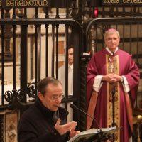 Il Rettore del Santuario, don Claudio Zanardini, saluta i partecipanti al Convegno