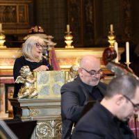 """La Presidente dell'Associazione """"Bazzini Consort"""" introduce il concerto"""