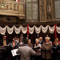 Il coro che ha animato la solenne celebrazione