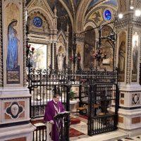 Celebra don Davide, sacerdote del Santuario