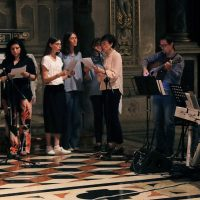 Il coro che ha animato la Veglia