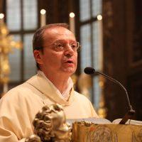 Il Rettore del Santuario don Claudio Zanardini