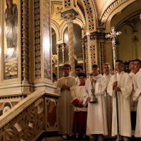 I ministranti, seminaristi del seminario di Brescia