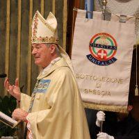 Il Vescovo Carlo Mazza durante l'omelia