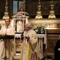 Don Claudio Zanardini, che presiede, e Mons. Mario Piccinelli