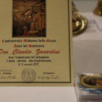 """Diploma e medaglione della """"Confraternita Amici del Santuario"""""""