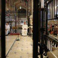 I sacerdoti che accompagnano il gruppo di pellegrini