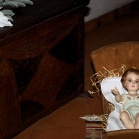 IL Bambino Gesù posto all'ingresso della galleria dell'ex-convento