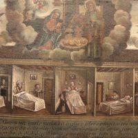 """Ex voto per la """"insperata guarigione"""" di una famiglia da febbri contagiose nel 1817"""