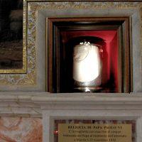 La reliquia di S. Paolo VI