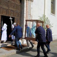 Arrivo della statua della Madonna benedetta da Papa Francesco
