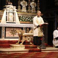Un momento della riflessione del Vescovo