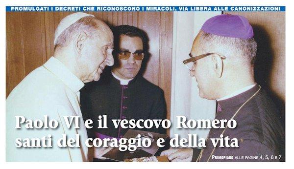 Paolo VI e Romero Santi il 14 ottobre 2018