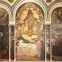 Dormizione di Maria, di Cesare Bertolotti (parete lato nord a sinistra di chi guarda l'altare)