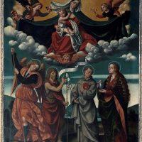 Madonna della Misericordia, S. Michela Arcangelo, S. Giovanni Battista, S. Antonio di Padova, S. Maria Maddalena, di ambito bresciano (2° altare a sinistra)