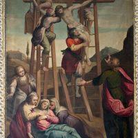 Deposizione, di Tiburzio Baldini (parete sinistra cappella Crocifisso)