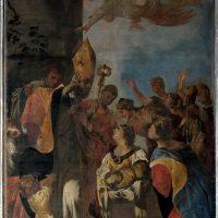 Miracolo di S. Martino, di Francesco Maffei (parete sinistra cappella in testa navata destra)