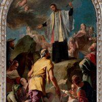 S. Francesco Regis visita gli appestati, di Simone Brentana (5° altare a destra)