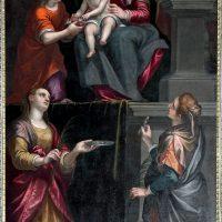 Sacra Famiglia con S. Lucia e S. Apollonia, di Alessandro Maganza (3° altare a destra)