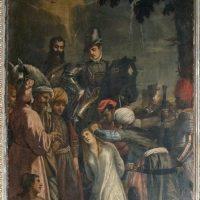 Martirio di S. Barbara, di Pietro Rosa (1° altare a destra)
