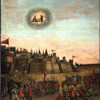 Apparizione della B.V. delle Grazie alle truppe in assedio, di ambito bresciano (parete destra)