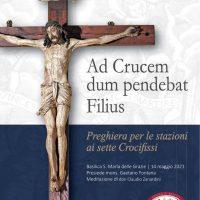 Copertina del sussidio di preghiera della terza tappa dell'itinerario dei sette crocifissi
