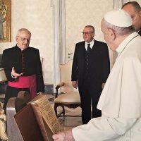 Momenti dell'incontro con Papa Francesco