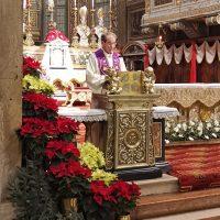 Mons. Giacomo Canobbio durante la riflessione sul Natale