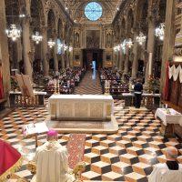 La Basilica durante il S. Rosario