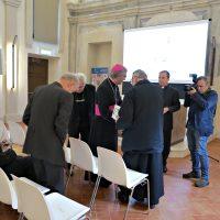 Momento di accoglienza dei Vescovi Pierantonio Tremolada, Vigilio Mario Olmi e Piergiuseppe Conti