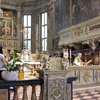 Un momento della celebrazione eucaristica