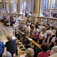 I pellegrini in Santuario per la S. Messa