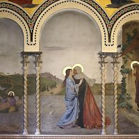 Visita di Maria a Elisabetta, di Modesto Faustini (parete lato ovest)