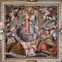 Madonna con Bambino in gloria (volta presbiterio), di Giovanni Mauro Della Rovere (Fiamminghino)